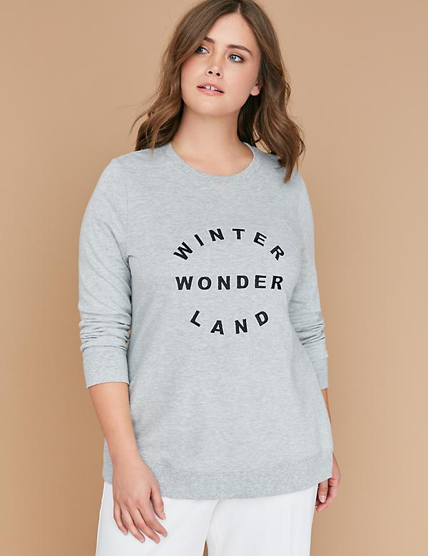 Winter Wonderland Graphic Drop-Shoulder Sweatshirt