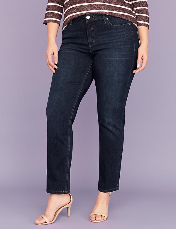 Super Soft Super Stretch Straight Jean - Dark Wash