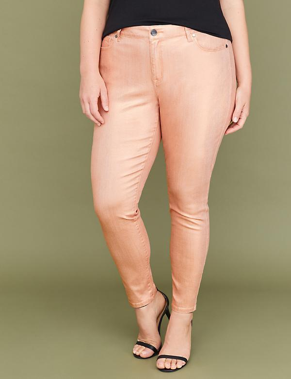 Super Stretch Skinny Jean - Rose Gold