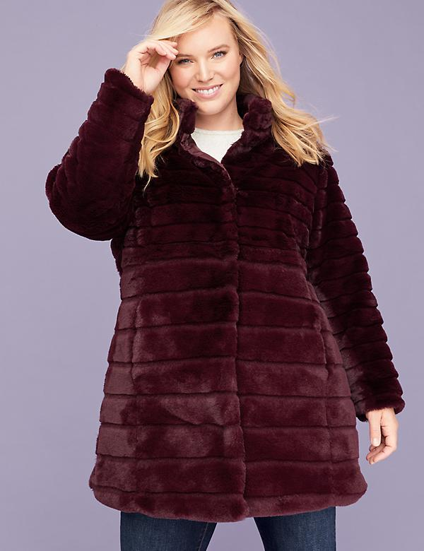 Faux Fur Quilted Quilted Coat