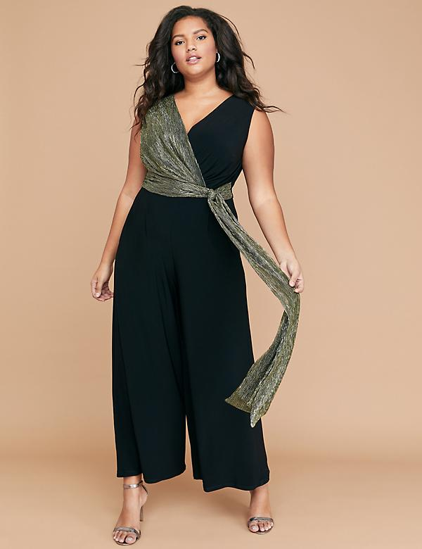 Metallic Accent Jumpsuit
