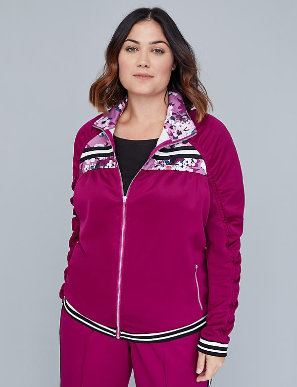 Active Jacket - Ruched Colorblock
