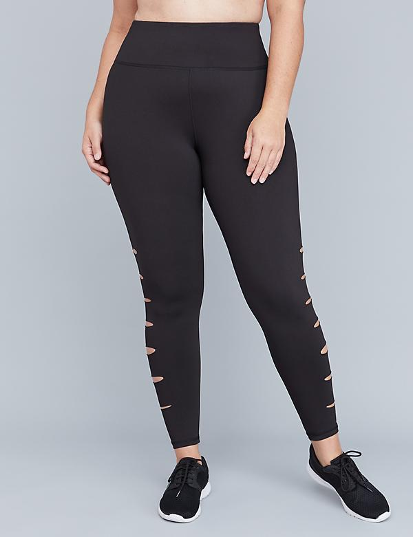 Wicking Active 7/8 Legging - Slashed Side
