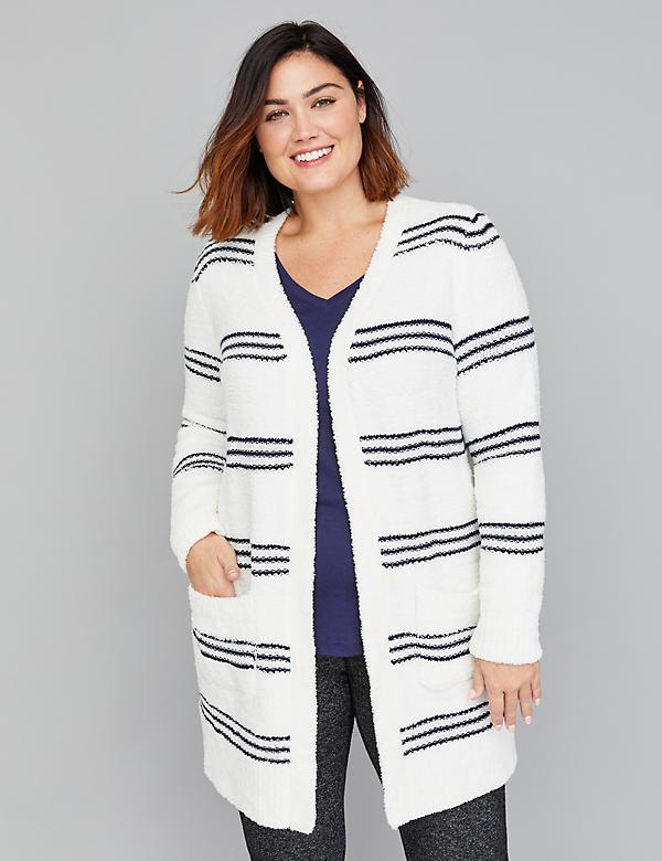 Striped Boucle Overpiece