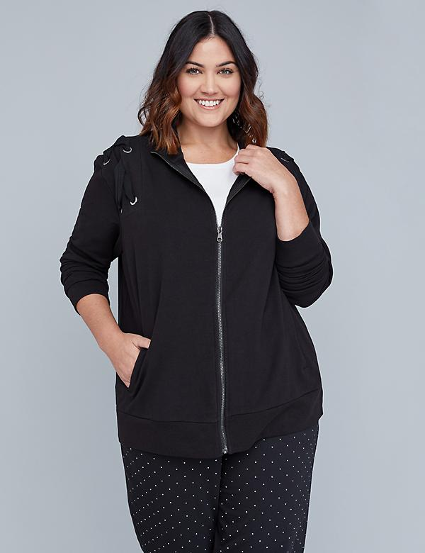 Lace-Up Active Bomber Jacket