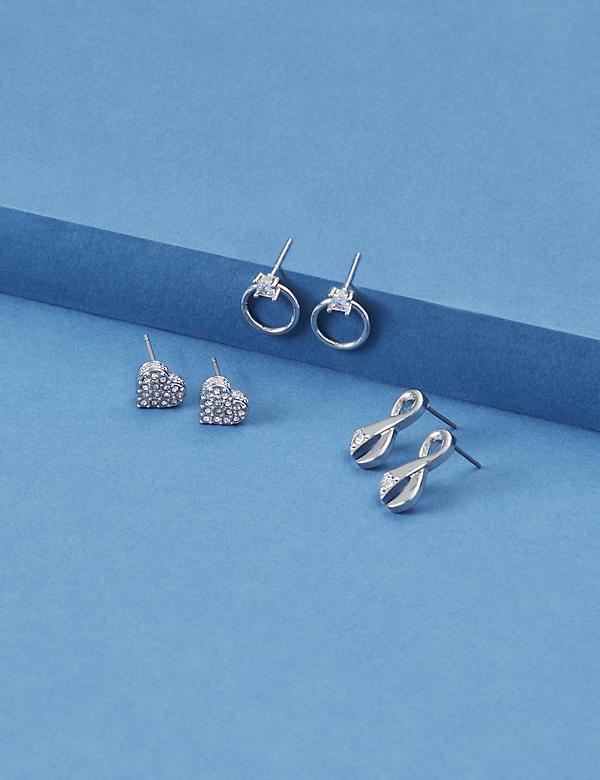 Awareness Stud Earrings 3-Pack