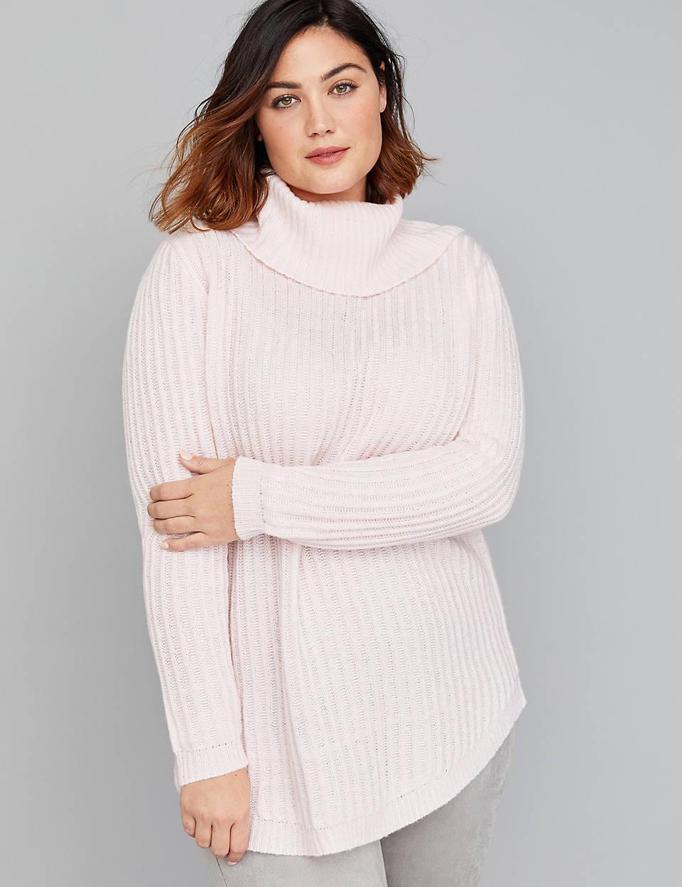 2e9f45f0654 Ribbed Cowl-Neck Sweater