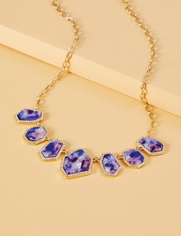 Resin & Pave Statement Necklace