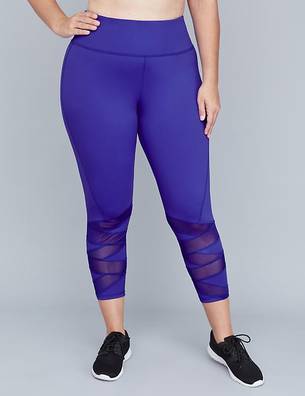 Wicking Active 7/8 Legging - Criss-Cross Mesh