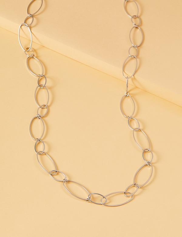 Metal Oval Link Necklace