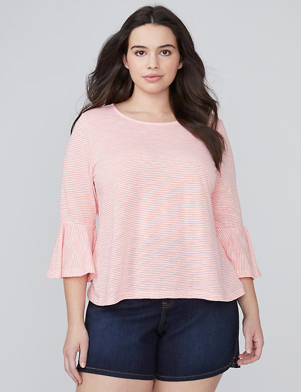 Ruffle-Sleeve Crop Top