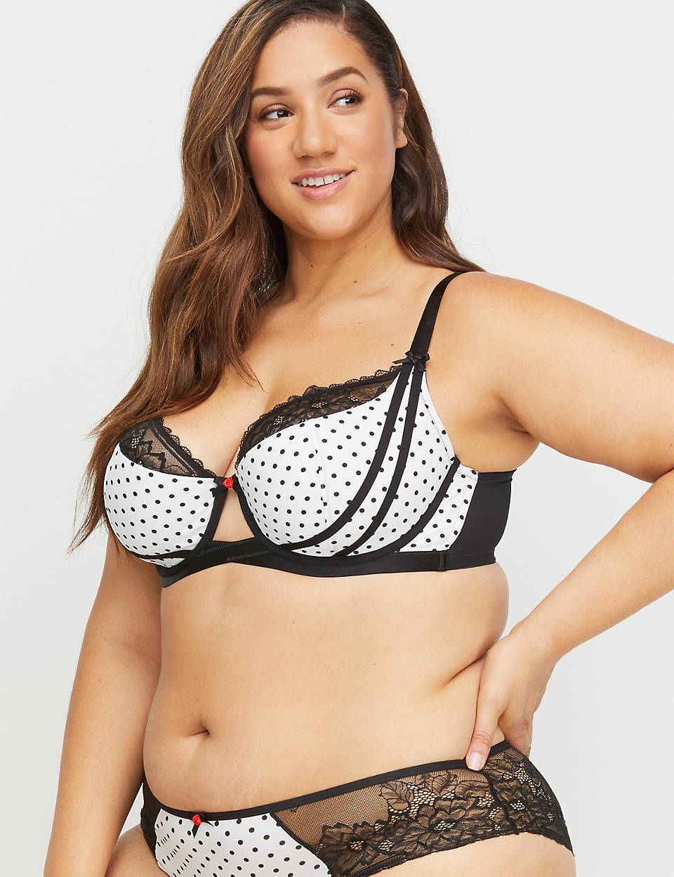 8bf9d9ec6 Polka Dot   Lace Lightly Lined French Balconette Bra.  48.95- 58.95. BUY 1  GET 1 75% OFF WITH CODE B1G175. 1