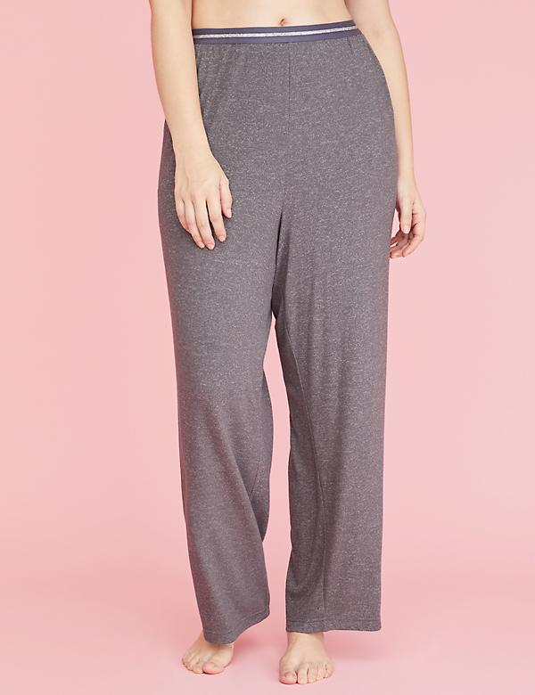 Brushed Jersey Sleep Pant - Striped Waistband