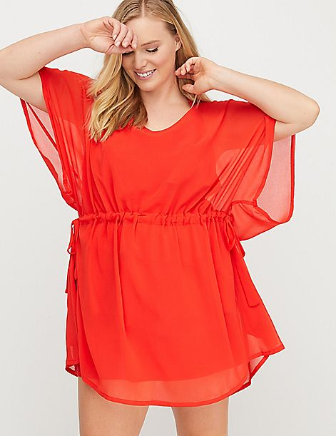 Chiffon Side-Tie Swim Cover-Up