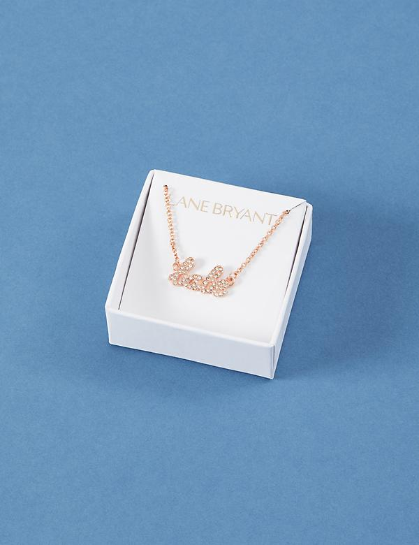 Babe Script Necklace with Gift Box