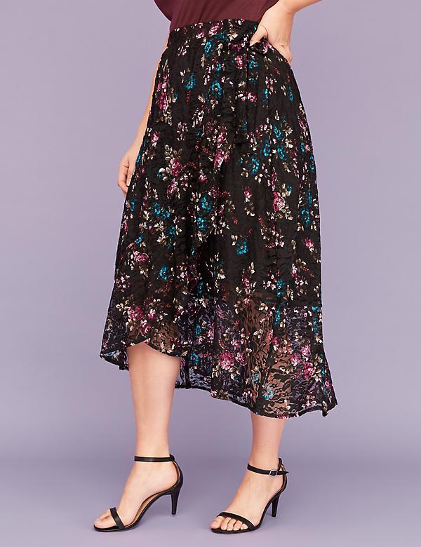 1c142e2ce81 Lace Faux Wrap Midi Skirt