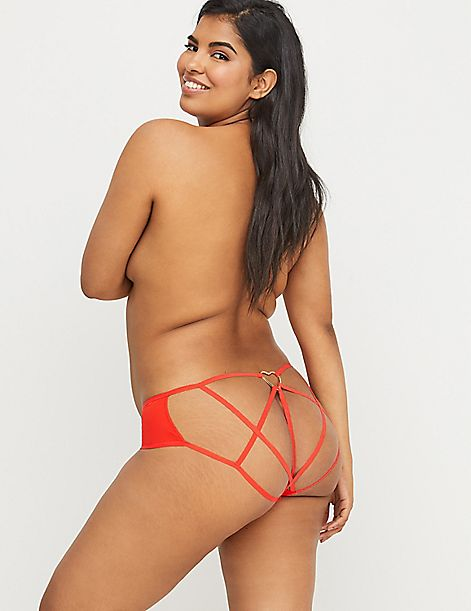 Heart-Ring Open-Back Panty