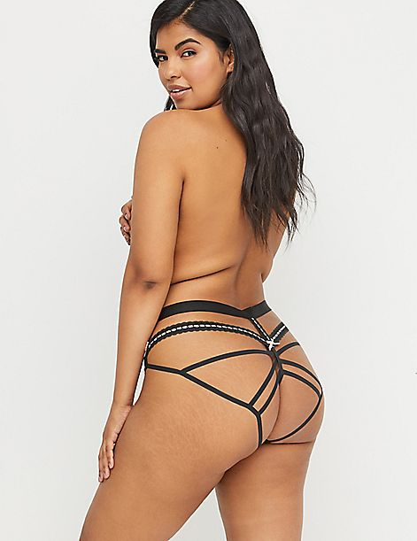 Open-Back Panty - Ribbon & Lace