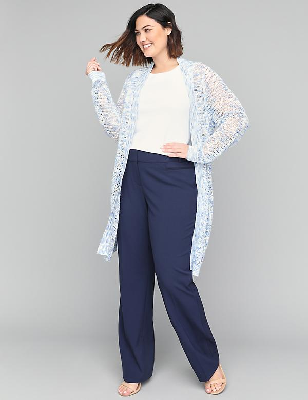 Curvy Allie Tailored Stretch Trouser Pant With Grosgrain Trim Pockets