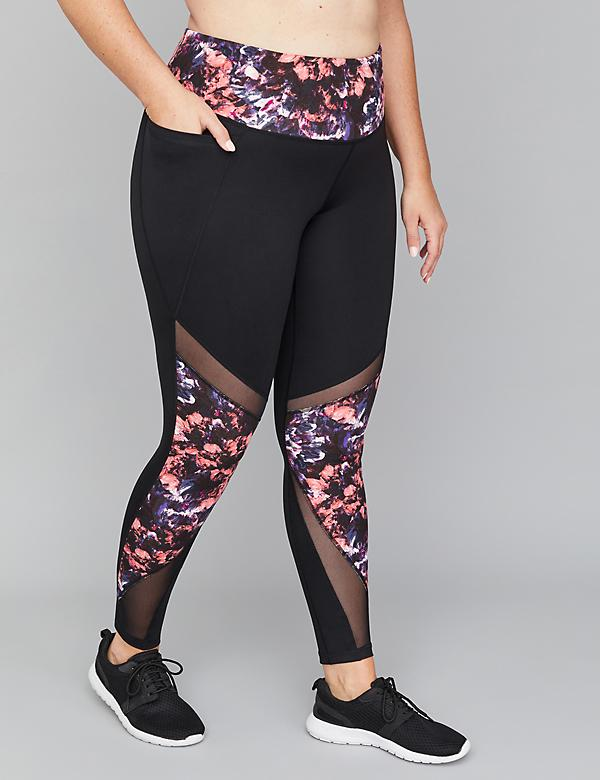SculptLight Active 7/8 Legging - Print & Mesh Insets