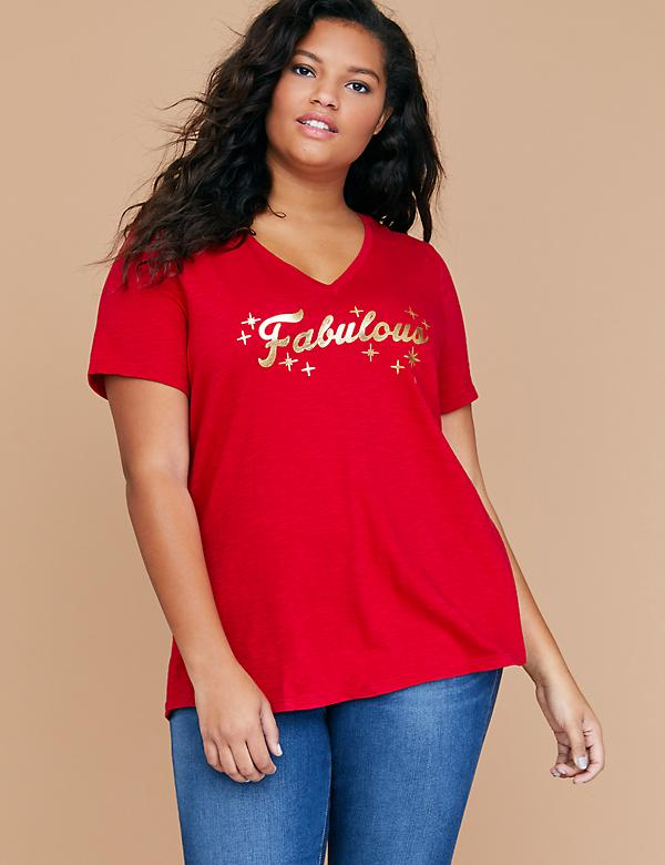 Fabulous Metallic Graphic Tee