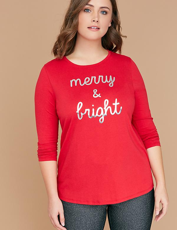 Merry & Bright Long-Sleeve Graphic Tee