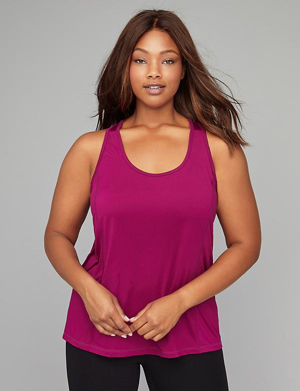 Wicking Draped Cross-Back Active Tank