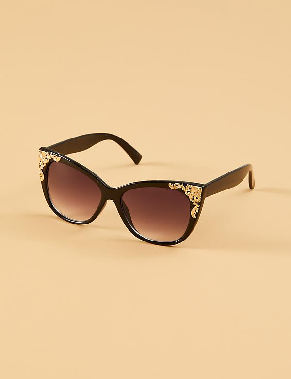 Filigree Cateye Sunglasses