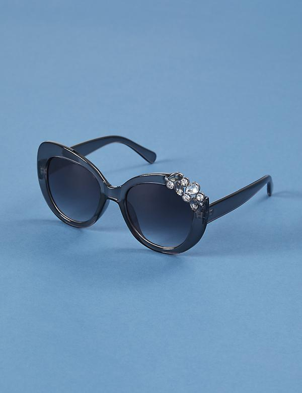 Butterfly Sunglasses with Stone Cluster