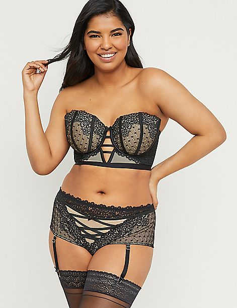 Spot Lace Multi-Way Balconette Bra