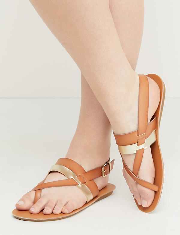 Two-Tone Strappy Sandal