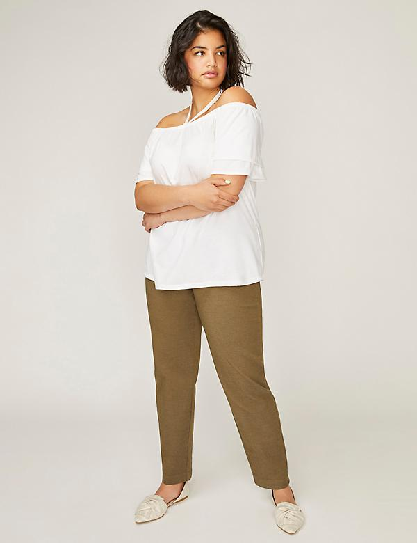 Coolmax® Allie Sexy Stretch Ankle Pant - Twill