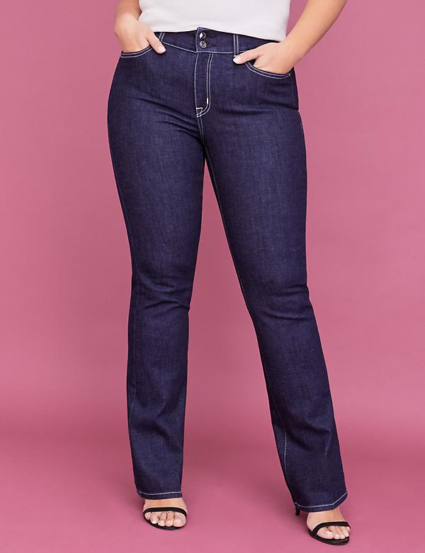 Tighter Tummy Super Stretch Boot Jean - Dark Wash