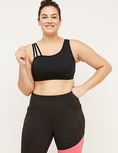Wicking Low Impact Sport Bra - Strappy Shoulder