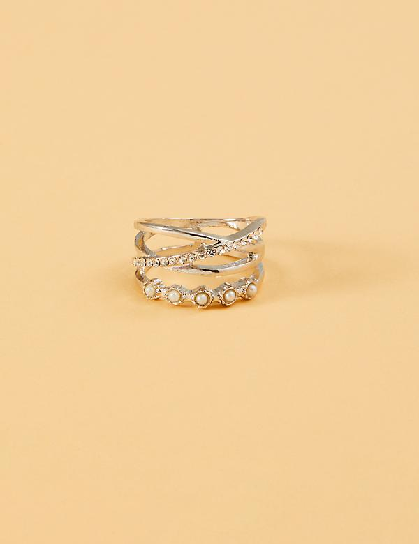 Multi-Band Pearl Ring