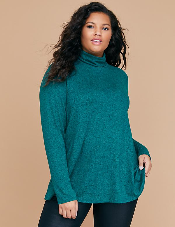 Hacci Swing Turtleneck Top