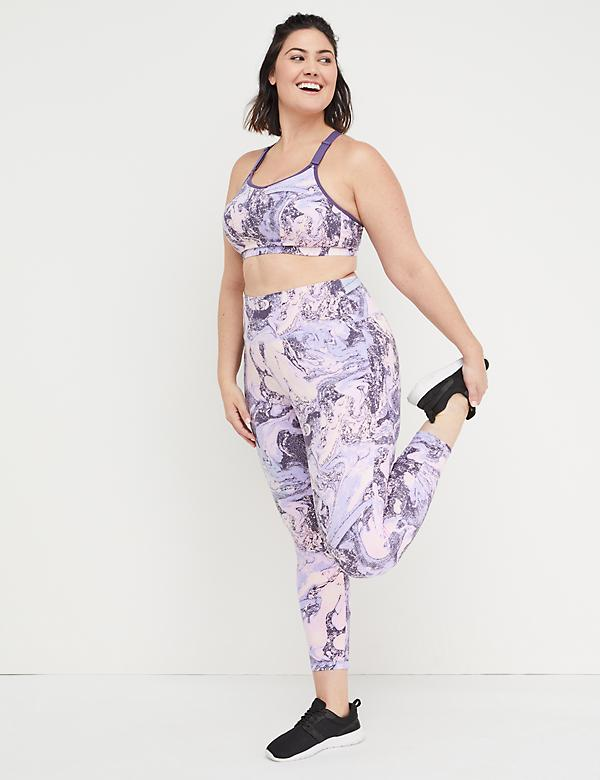 Eco-Chic Wicking Active 7/8 Legging - Marble Print