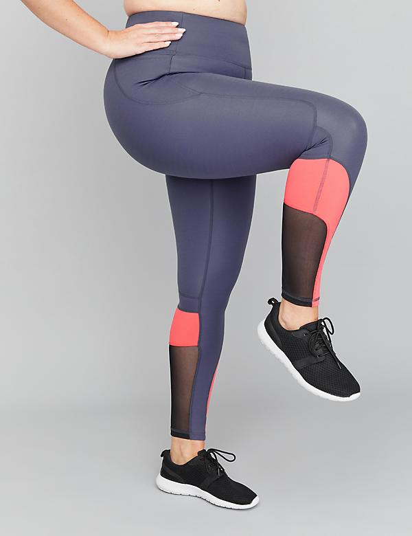 SculptLight Active 7/8 Legging - Curved Colorblock & Mesh