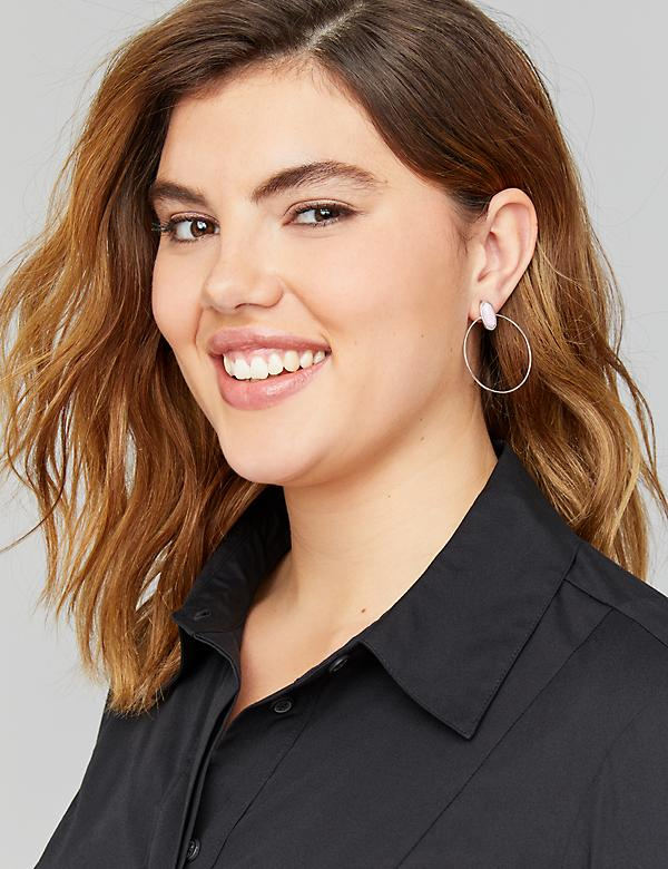 Front-Facing Hoop Earrings