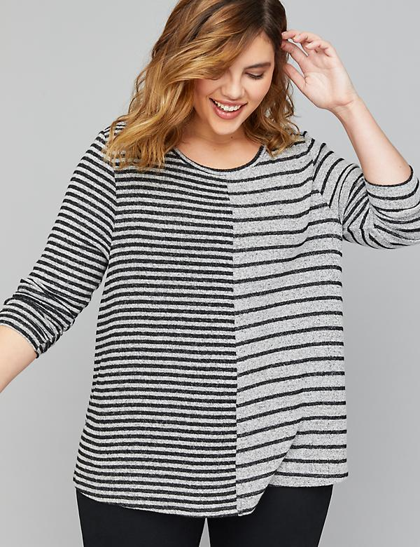 Hacci Striped Swing Top