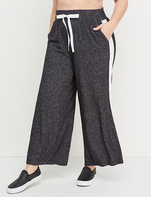 Wide Leg Hacci Pant - Side Stripe