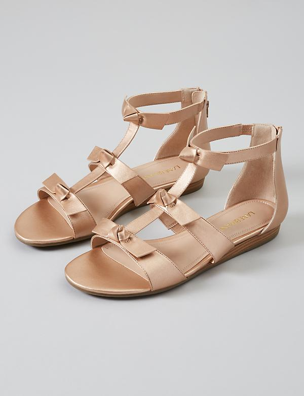 Triple Bow Ankle-Strap Sandal