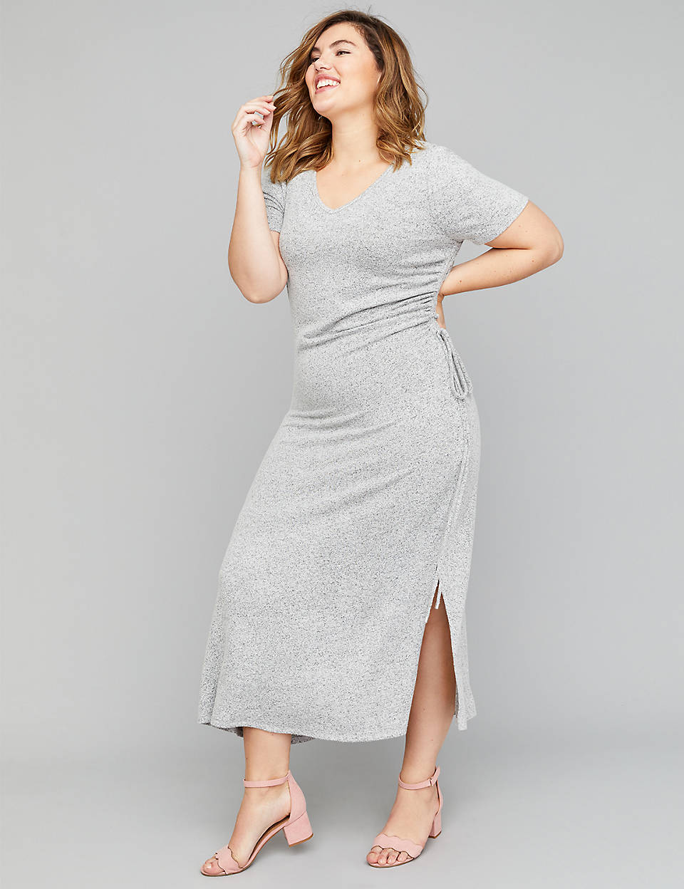 1eb820f30e6 Side-Ruched Midi Dress