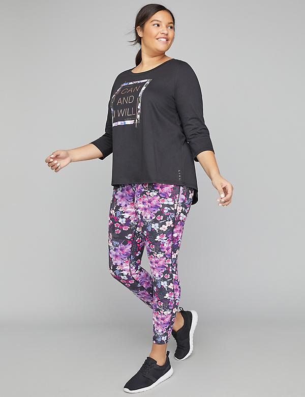 I Can And I Will Graphic Active Tunic Top
