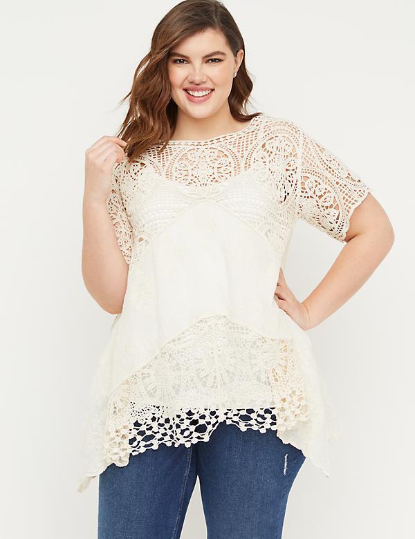 873e10f9 Plus Size Tunics For Women   Lane Bryant