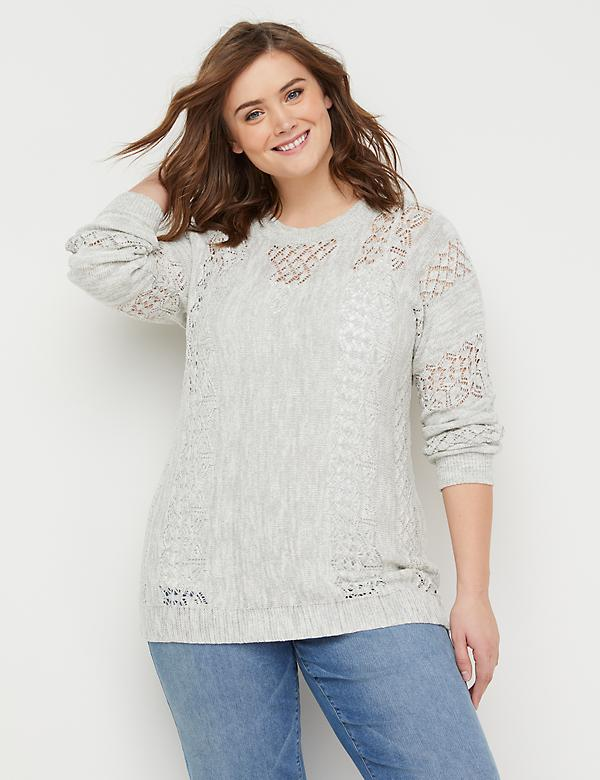 0beff20be1 Open-Stitch Pullover