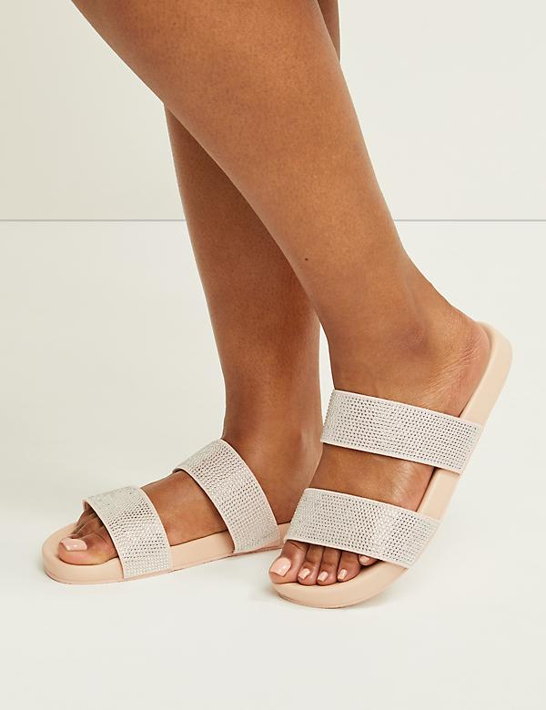 Embellished Double-Strap Slide