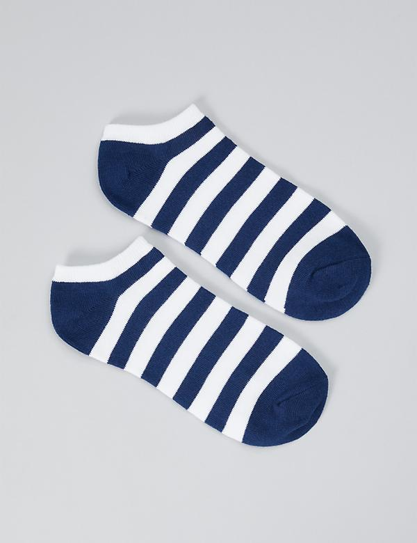 Graphic Ankle Socks - Bold Striped