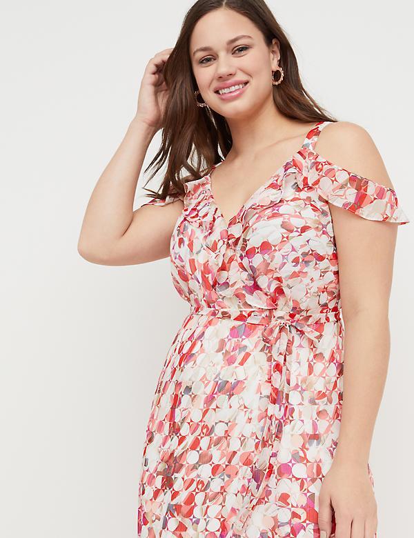 8e790e9f8b677 Printed Ruffle Maxi Dress