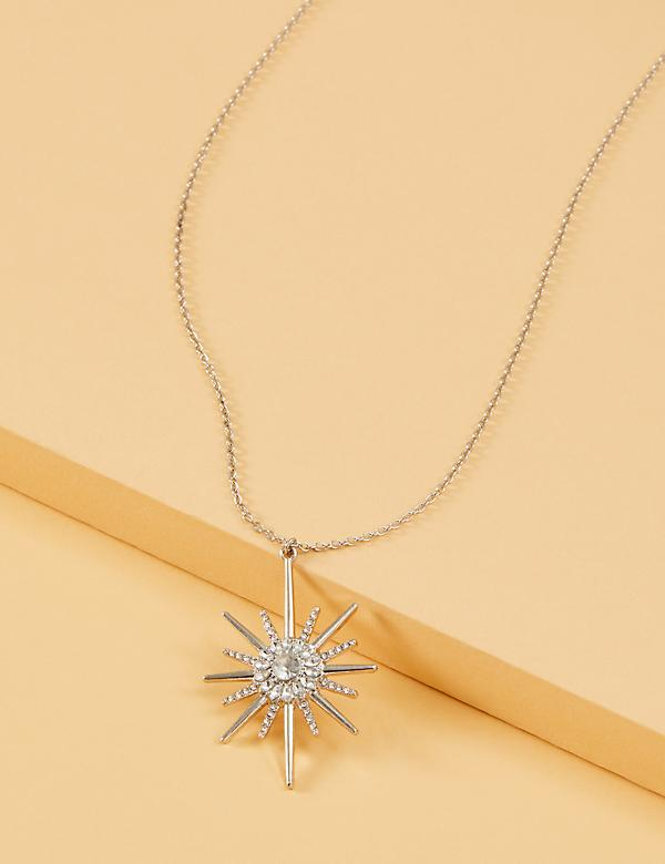 Long Starburst Pendant Necklace